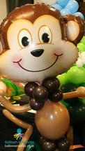 Cheeky monkey balloon character Balloon Artworks Alfreton Eastwood Heanor Derby Chesterfie