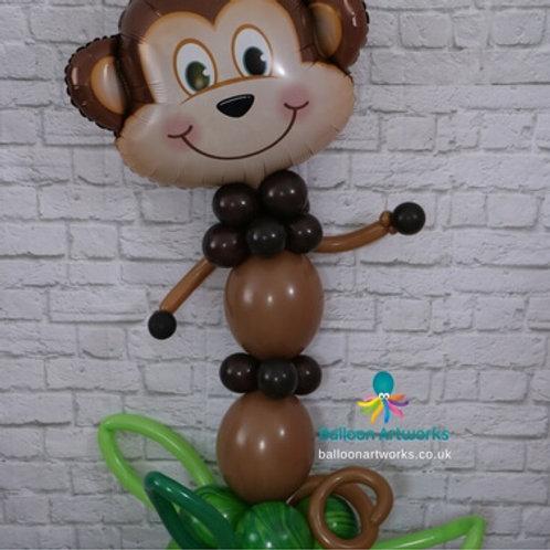Monkey balloon character