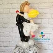 Bride and groom balloon sculpture Balloon Artworks Ripley Alfreton Derby Chesterfield Derbyshire