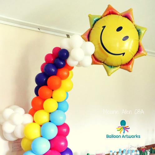 Balloon rainbow arch Derby Derbyshire Nottingham Nottinghamshire Balloon Artworks.jpg