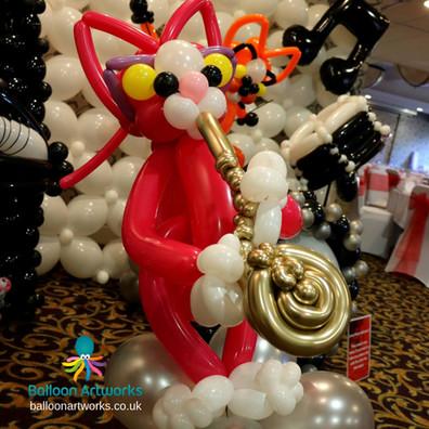 Balloon cat saxophone player Balloon Art