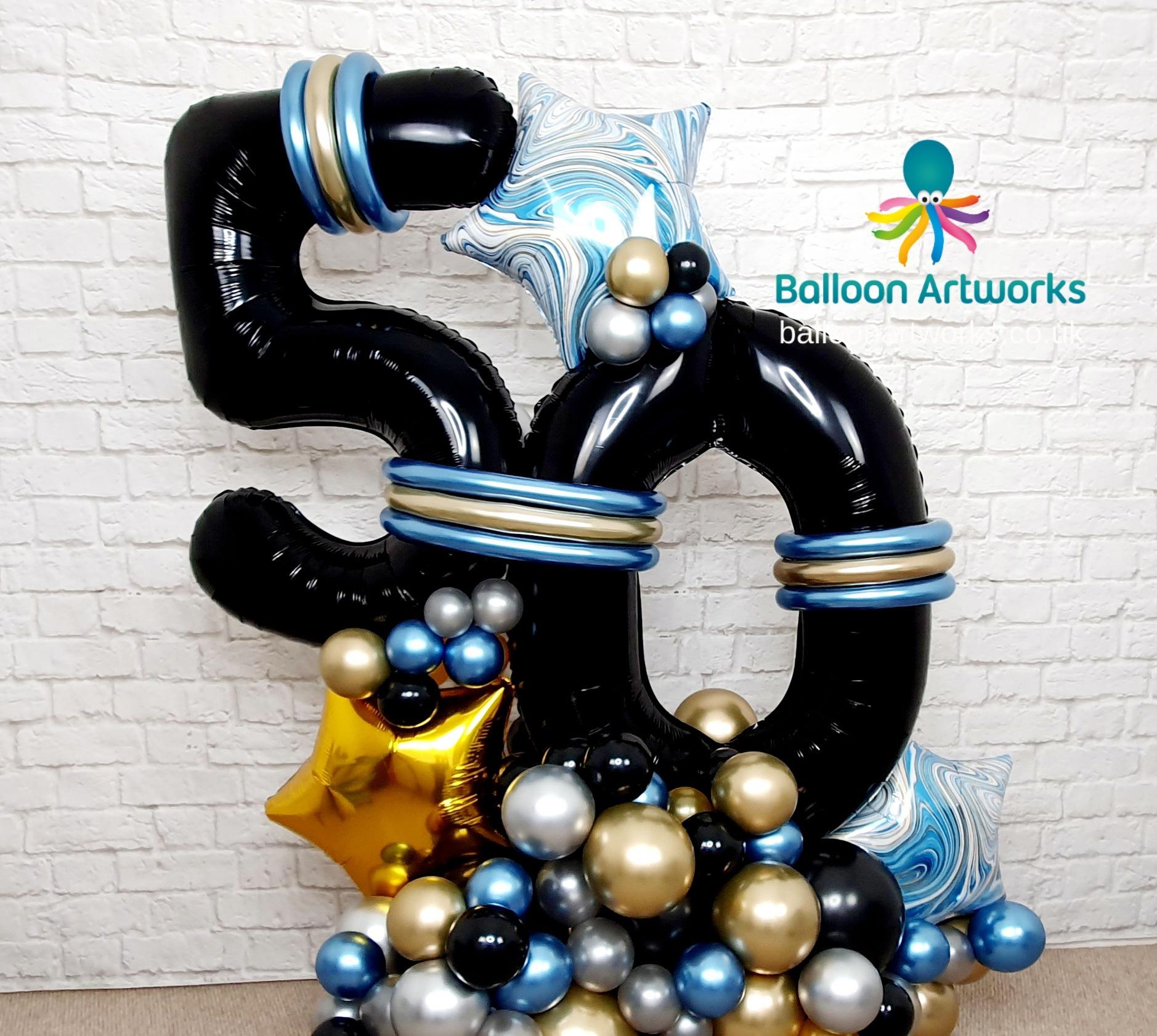 50th birthday balloon display