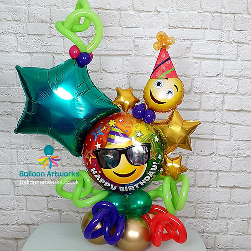 Happy Birthday Balloon Centrepiece Designed to Order