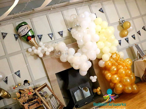 Champagne balloon arch