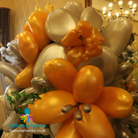Giant balloon flower display Derbyshire
