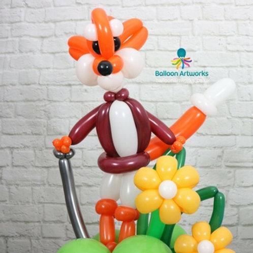 Fox balloon sculpture