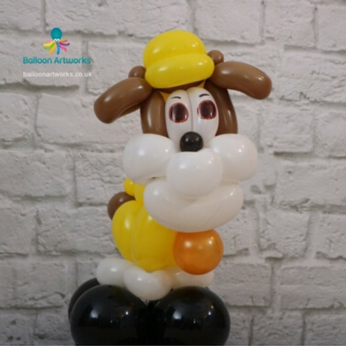 Construction balloon dog decoration