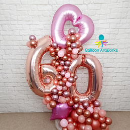 60th Birthday Balloon Bouquet - Delivery Derby, Nottingham, Amber Valley
