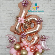 18th Birthday Balloon Bouquet in Rose Gold - Ripley, Alfreton, Amber Valley