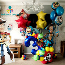 Third Birthday Number Balloon Bouquet - Toy Story Theme