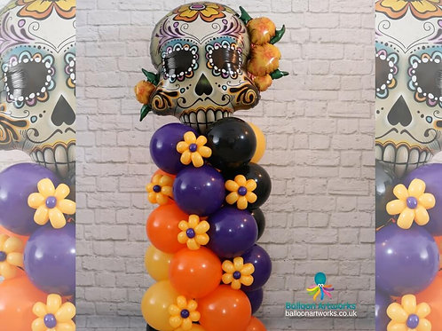 Day of the Dead balloon column decoration