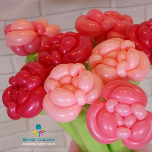 English rose balloon bouquet