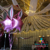 Pink and rose gold party balloons Derby Derbyshire Nottingham Nottinghamshire Balloon Artworks