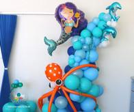 Mermaid Under the Sea balloon demi arch Derby Nottingham Derbyshire Balloon Artworks.jpg