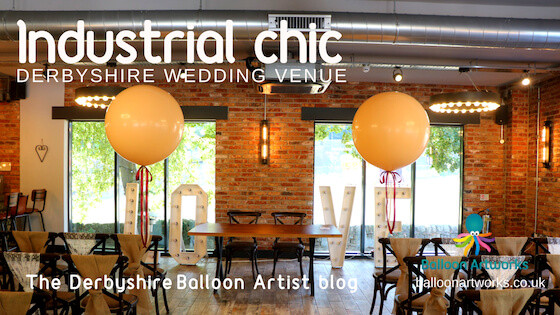 Giant wedding balloons for The Hurt Arms Ambergate near Belper by Balloon Artworks of Ripley, the Derbyshire balloon artist