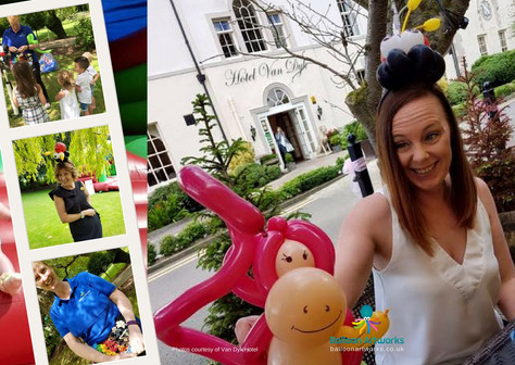 Balloon modelling for Van Dyk Hotel Chesterfield Derbyshire by Balloon Artworks