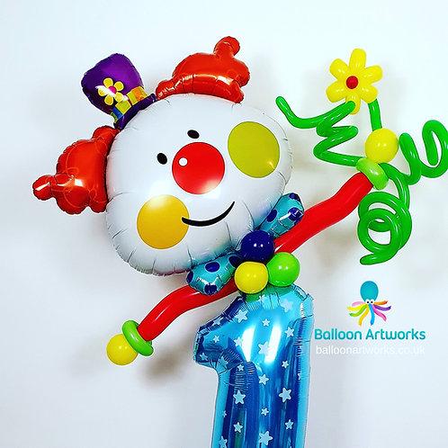 First Birthday Balloon Clown Decoration