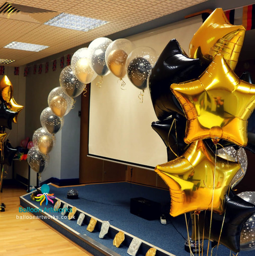 Black and gold balloon arch Derby.jpg