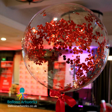 Confetti balloon table centepieces Ballo