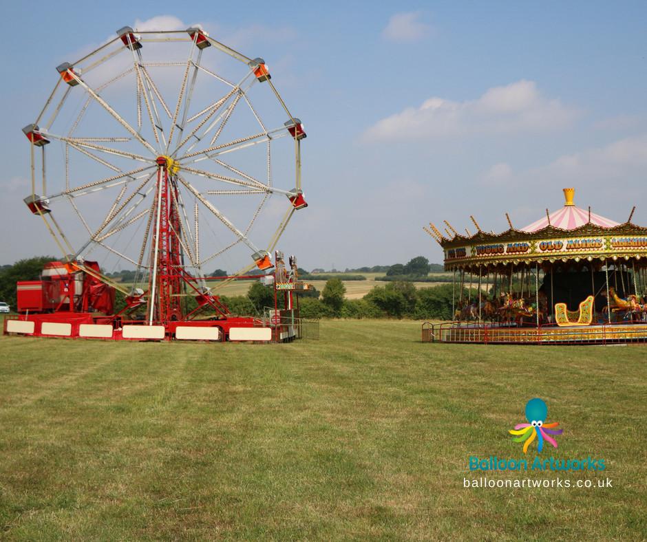 Fun fair wedding theme at Mapperley Farm Events Venue West Hallam Ilkeston Derbyshire