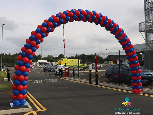 Extra large outdoor balloon arch