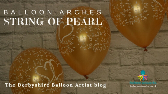 String of pearl balloon arch The Derbyshire Balloon Artist blog