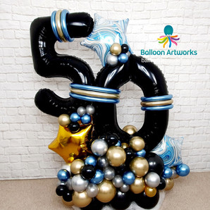 50th birthday balloon display delivery by Balloon Artworks Derby Nottingham Chesterfield R