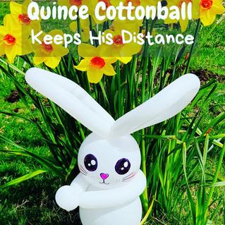 Balloon art helping children understand social distancing