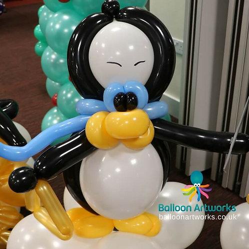 Penguin balloon triangle player