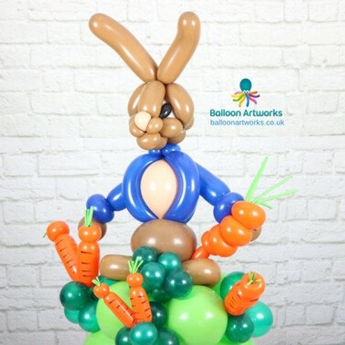 Giant rabbit balloon sculpture