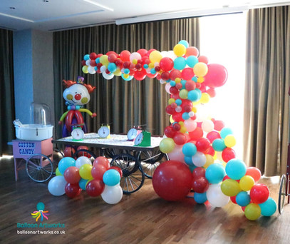 Circus balloon arch Derbyshire Nottinghamshire Balloon Artworks.jpg