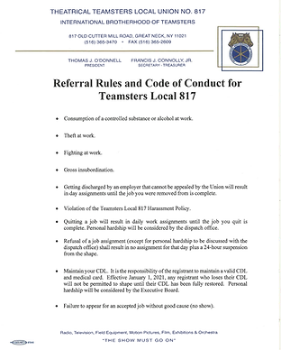 Referral Rules and Code of Conduct for T