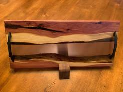 "SOLD - West Red Cedar and ""Slate Grey"" Epoxy River Charcuterie Board"