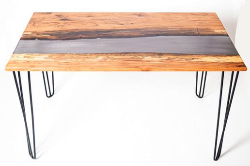 Custom Order: Pecan & Epoxy River Desk