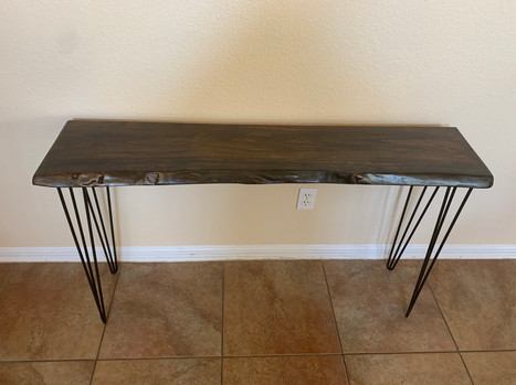 SOLD: Custom Pecan Console Table