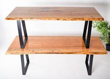 SOLD - Pair of custom pecan benches