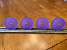 "Coaster Set: ""Lavender & Amethyst Rounds"""