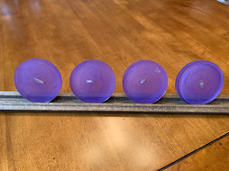 "Coaster Set: ""Lavender & Amethyst Rounds"""
