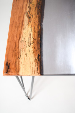 Custom Pecan and Epoxy River Desk