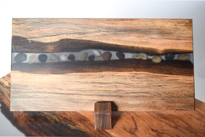 SOLD - Tumbled River Stone Charcuterie Board