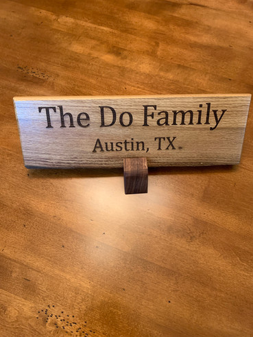 SOLD: Custom Laser-engraved Post Oak sign