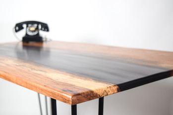 Custom Pecan and Epoxy River Desk