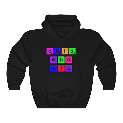 Chix Who Mix Scrabble Letter Heavy Blend™ Hooded Sweatshirt