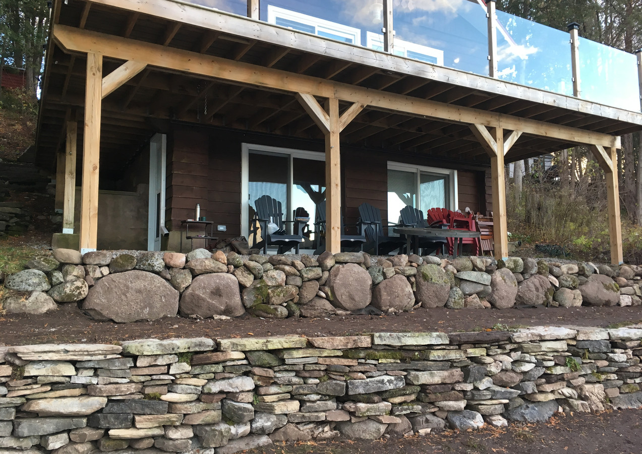 Stone wall Rebuild - All Stone was found on site