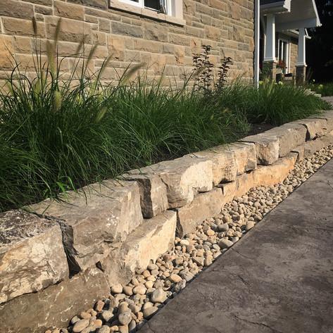 Natural Stone Garden Wall