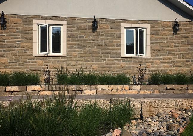 Natural Stone Front Yard Design