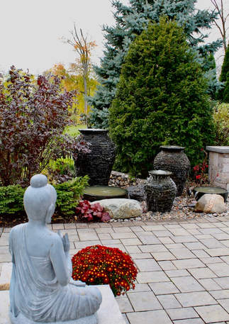 Zen! Multi-fountain water feature installed in Foxboro Ontario