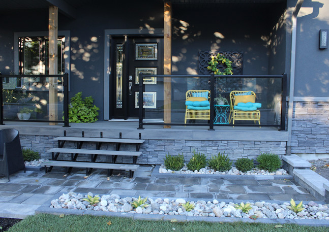 Permacon products Front Yard Landscaping