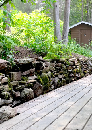 Stone Retaining Wall - All stone found on site