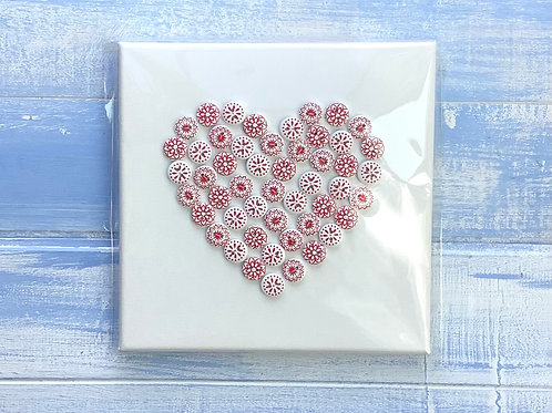 Button picture Heart Red